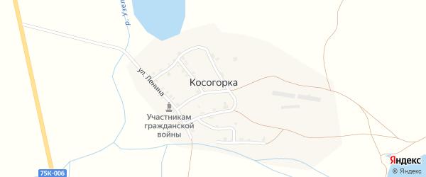 Дорожная улица на карте деревни Косогорки с номерами домов