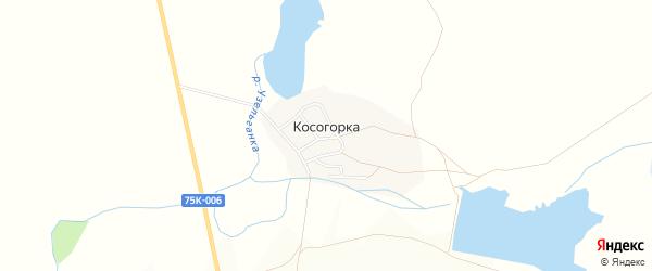 Карта деревни Косогорки в Челябинской области с улицами и номерами домов