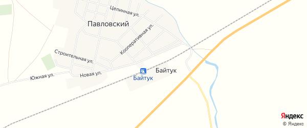 Карта железнодорожной станции Байтук в Челябинской области с улицами и номерами домов