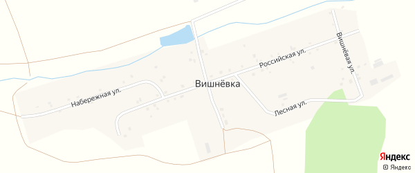 Молодежная улица на карте поселка Вишневки с номерами домов