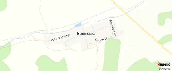 Карта поселка Вишневки в Челябинской области с улицами и номерами домов