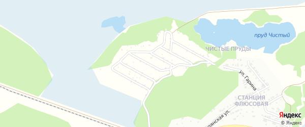 СНТ Светлый сад на карте Миасса с номерами домов