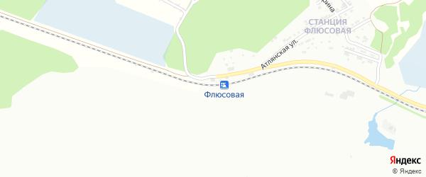 Железнодорожная улица на карте Флюсовой железнодорожной станции с номерами домов