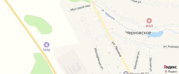Молодежная улица на карте Черновского села с номерами домов