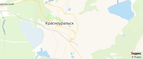 Карта Красноуральска с районами, улицами и номерами домов: Красноуральск на карте России