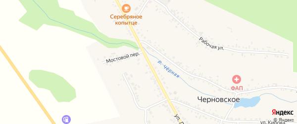 Улица Ленина на карте Черновского села с номерами домов