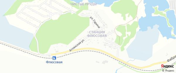 Атлянская улица на карте Флюсовой железнодорожной станции с номерами домов