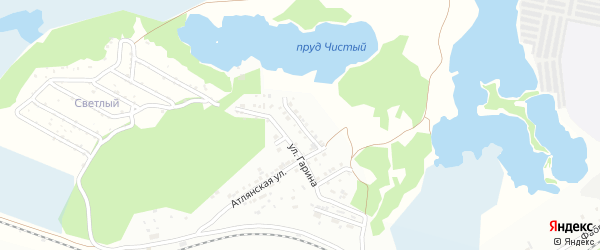 Улица Тимирязева на карте Флюсовой железнодорожной станции с номерами домов