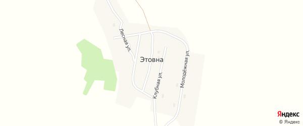 Улица Первоцелинников на карте поселка Этовны с номерами домов