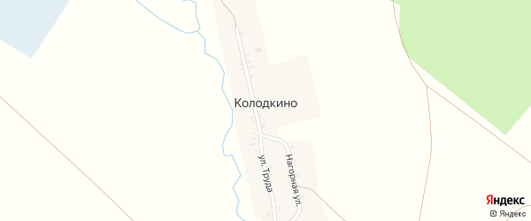 Нагорная улица на карте деревни Колодкино с номерами домов