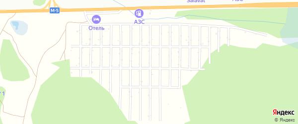 Сад СНТ Бызгун на карте Миасса с номерами домов