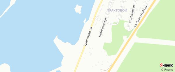 Трактовая улица на карте Октябрьского поселка с номерами домов