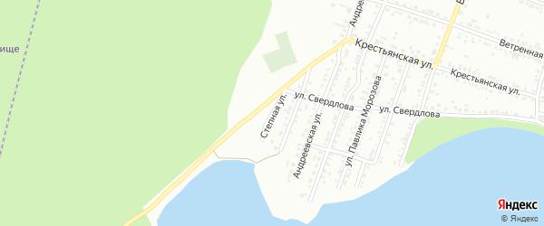Степная улица на карте Миасса с номерами домов