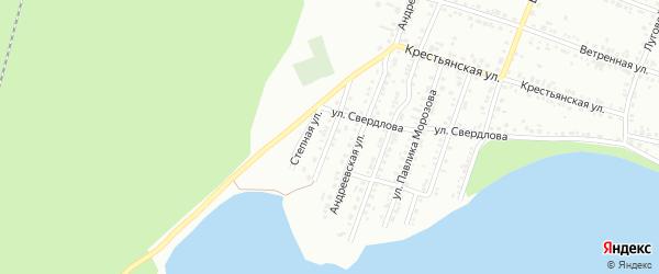 Ульяновская улица на карте Миасса с номерами домов