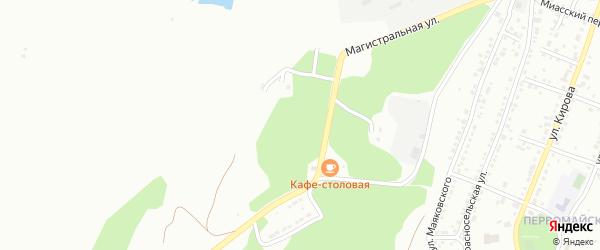 Рудничная улица на карте Миасса с номерами домов