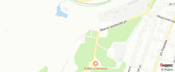 Известковая 1-я улица на карте Миасса с номерами домов