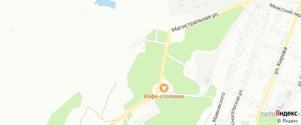 Улица Бардина на карте Миасса с номерами домов
