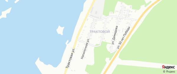 Напилочная улица на карте Миасса с номерами домов
