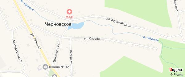 Улица Кирова на карте Черновского села с номерами домов
