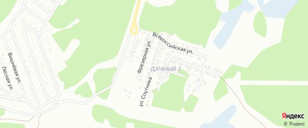 Улица Спутника на карте Миасса с номерами домов