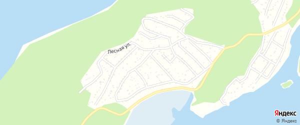 Нагорный 2-й переулок на карте Миасса с номерами домов