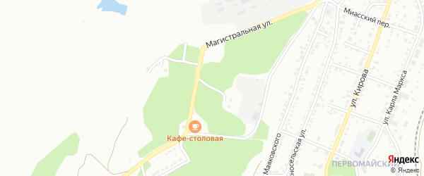 Нагорная 2-я улица на карте Миасса с номерами домов
