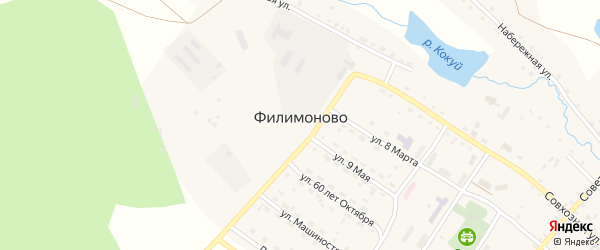 Улица Лесничество на карте села Филимоново с номерами домов