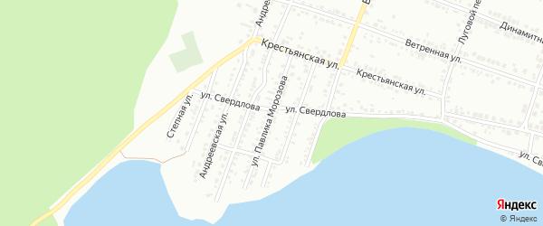 Улица Павлика Морозова на карте Миасса с номерами домов
