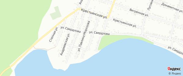 Переулок Звейника на карте Миасса с номерами домов