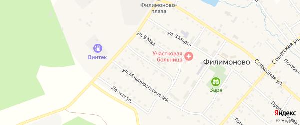 Улица 70 лет Октября на карте села Филимоново с номерами домов