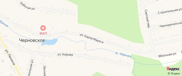 Улица Карла Маркса на карте Черновского села с номерами домов
