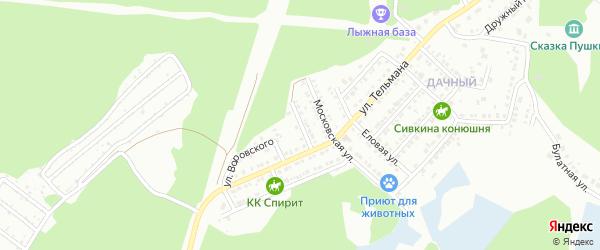 Брусничная улица на карте Миасса с номерами домов