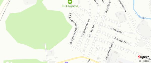 Улица Старогородская Слобода на карте Миасса с номерами домов