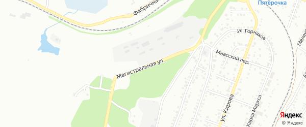 Магистральная улица на карте Миасса с номерами домов