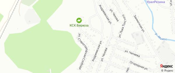 Владимирская улица на карте Миасса с номерами домов