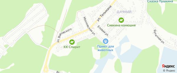 Новогодняя улица на карте Миасса с номерами домов