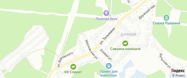 Улица Воровского на карте Миасса с номерами домов