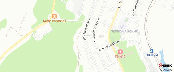 Нагорный переулок на карте поселка Архангельского с номерами домов