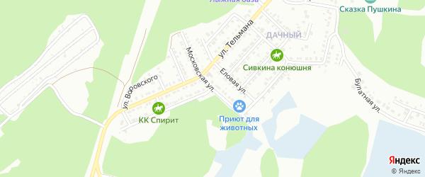 Московская улица на карте Миасса с номерами домов