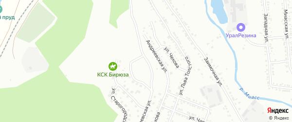 Юрьевская улица на карте Миасса с номерами домов