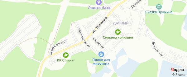 Еловая улица на карте Миасса с номерами домов