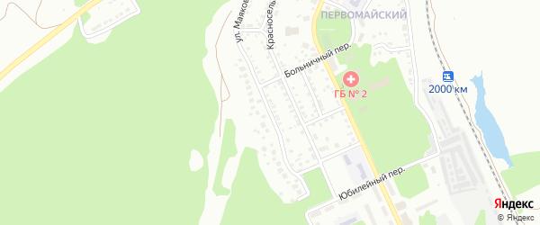 Улица Маяковского на карте Миасса с номерами домов