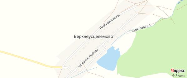 Береговая улица на карте деревни Верхнеусцелемово с номерами домов