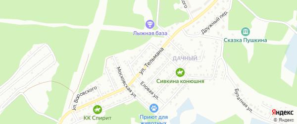 Улица Тельмана на карте Миасса с номерами домов
