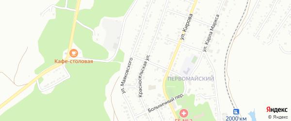 Красносельская улица на карте Миасса с номерами домов