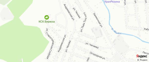 Улица Фурманова на карте Миасса с номерами домов