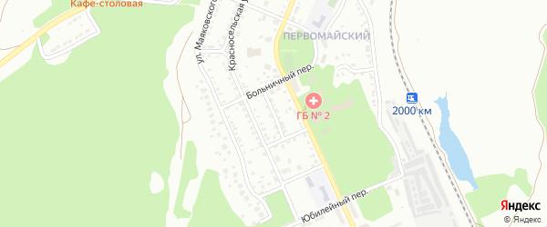 Майский переулок на карте Миасса с номерами домов