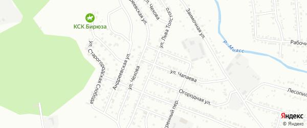Улица Льва Толстого на карте Миасса с номерами домов