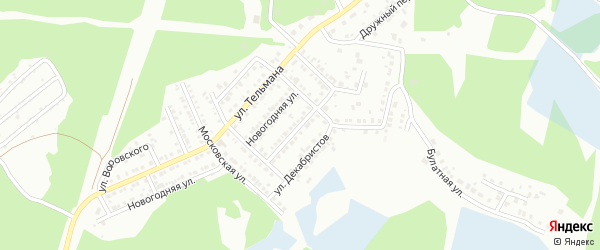 Улица Панфиловцев на карте Миасса с номерами домов