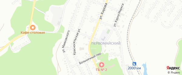 Петровский переулок на карте Миасса с номерами домов